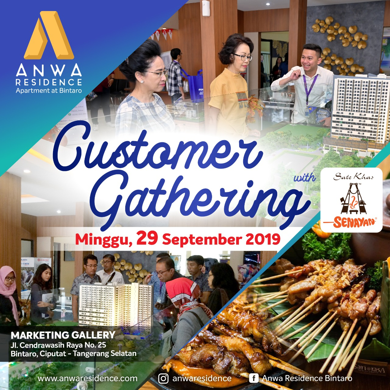 Customer Gathering Apartemen Anwa Residence Bintaro 29 september 2019